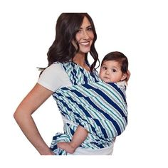 Seven Sling Baby Infant Wrap Carrier Multiple Ways Lbs -Park- Baby Sling Wrap, Baby Wrap Carrier, Baby Hands, Baby Wraps, Royal Navy, Stripes Design, Infant, Walmart, Turquoise