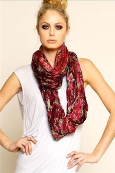 Tolani Floral Infinity Scarf