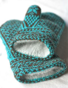 Spectacular lined mittens - for those really cold winters