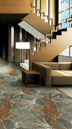 Stair rail - too zig zaggy but nice idea