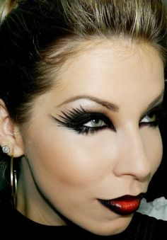 maquiagem para halloween com lu ferraes - Cat Eyes Makeup For Halloween