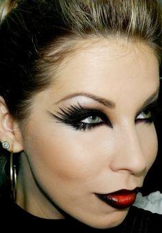 maquiagem para halloween com lu ferraes - Cat Eyes Makeup For Halloween
