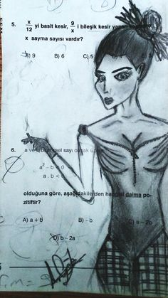 girl math dessin