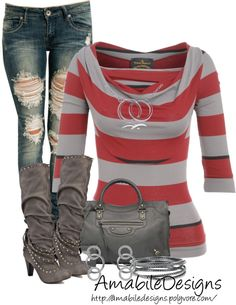 """Style these Boots Contest"" by amabiledesigns on Polyvore"