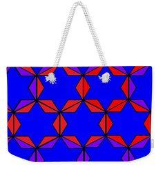 Weekender Tote Bag of 'Happy Hanukkah 4' by Sumi e Master Linda Velasquez.