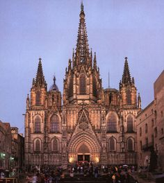 The Barcelona Cathedral is the Gothic Cathedral and was constructed between the 14th and 15th centuries. The cathedral is dedicated to  Eulalia of Barcelona.