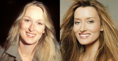 "Meryl Streep and Natascha McElhone | NOTE: Meryl is about 5'6"" and Natascha is about 5'8""."