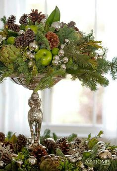Gorgeous centerpiece of Holiday Table