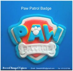 Paw Patrol Badge, Sweet Cakes, Cupcake Toppers, Icing, Cake Decorating, Cupcakes, Sugar, Cookies, Desserts