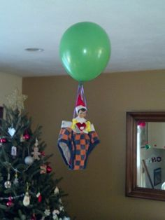 Elf on the Shelf - Air balloon ride by katie