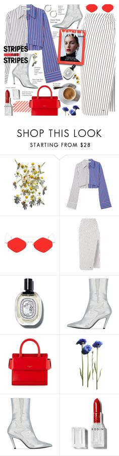 """""""Pattern Challenge: Stripes on Stripes"""" by voguefashion101 ❤ liked on Polyvore featuring Off-White, Spektre, Balenciaga, Givenchy and Rodin"""