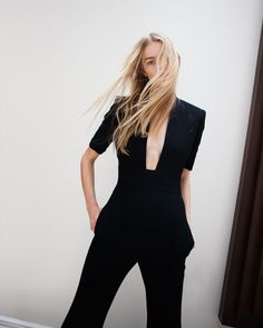 black #style #fashion #overall #jumpsuit