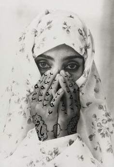 View Identified, from The Women of Allah, 1995 by Shirin Neshat on artnet. Browse upcoming and past auction lots by Shirin Neshat. Shirin Neshat, Op Art, Artistic Photography, Portrait Photography, Fabric Photography, Abstract Photography, Black Art, Black And White, Iranian Art