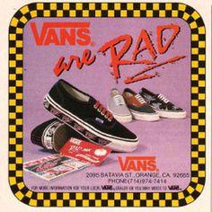 """vans """"the rad"""" vintage ad"""