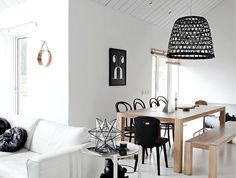 The wire basket lamp looks great in black