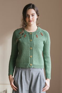 lotte by pam allen / in quince & co. osprey, color lichen with sedum…