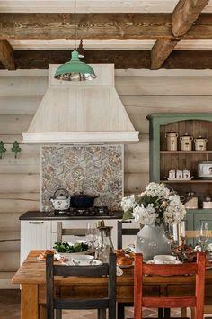 Великолепный деревянный дом в Подмосковье | Пуфик - блог о дизайне интерьера