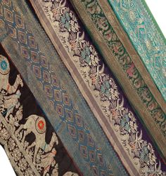 Dyeing And Weaving Embroidery Sweet-Tempered 12-13c Antique Textile Fragment Blue Ground Aromatic Flavor
