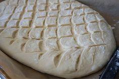 Grekiskt lantbröd i långpanna Savoury Baking, Bread Baking, Piece Of Bread, Swedish Recipes, No Bake Desserts, Bread Recipes, Bakery, Brunch, Food And Drink
