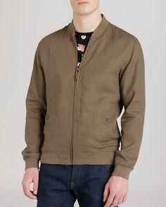 Ted Baker Linbo Linen Bomber Jacket | Bloomingdale's