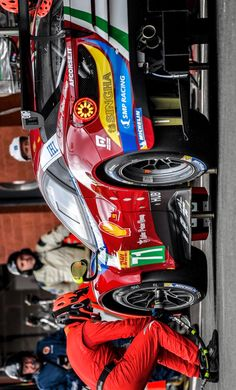 2017/5/6:Twitter:.@FIAWEC #Wec6HSpa It's time for the first stop for both the @AFCorse #Ferrari #71 and #51. Now @sambirdracing and #JamesCalado at the wheel