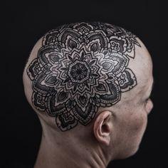 mandala head tattoo by Thomas Hooper by Reclamation Dept, via Flickr