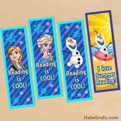 FREE Printable Frozen Bookmarks Remember when I used to make stuff like this for the school library?  Well...now you can do your own :)