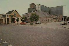 e voedersilo's van Bruins in het centrum aan de Sallandse straat. Op deze plaats staat nu de Mulderij.