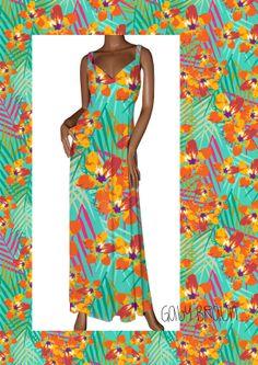 Hibiscus pattern by Gaby Braun