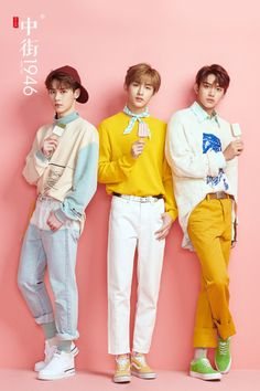 Combining yellow and soft pink can be a great idea for your look. Johnny Seo, Lucas Nct, Sm Rookies, Fandom, Jung Woo, Casual Cosplay, Kpop, Taeyong, Jaehyun