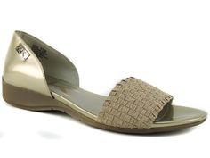 Anne Klein Women's Kea Sport Flats Woven Light Gold Size 11 (B, M) #AnneKlein #OpenToe #Casual