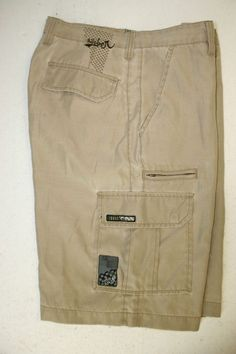 Quiksilver Tactical Coyote Hybrid Boardshorts Cargo Shorts Mens 33 Poly 2771 #Quiksilver #CargoShorts #Surf