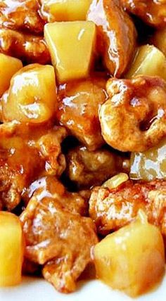 You should create this Chinese Pineapple Chicken . B'cause it's very Enjoyable. ~ Please click pin to acquire ~ Chinese Food Recipe Ideas Pineapple Chicken Recipes, Chinese Chicken Recipes, Easy Chinese Recipes, Asian Recipes, Asian Foods, Recipe Chicken, Homemade Chinese Food, Chinese Desserts, Chinese Coconut Chicken Recipe