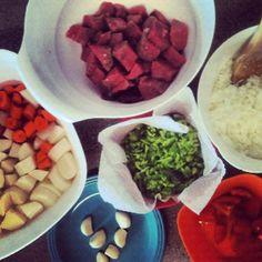 Hungarian goulash ingredients...