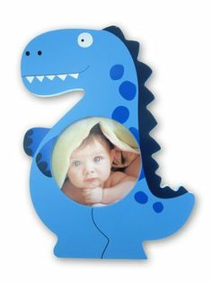 "Blue Dino Shape 4""x4"" Picture Frame by Puzzled Inc.. $11.99. Made from real natural wood.. The perfect picture frame for your child's room.. Photo Size: 4"" x 4"". Dimensions: 0.5"" H x 6.5"" W x 9"" L. Colorful Fun Frame by Puzzled is a wonderful trend to decorate your room with amazing memories. Check out the selection of Fun Frames available in many styles, sizes and colors to match your perfect idea for a souvenir and gift."