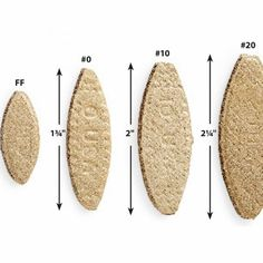 Common biscuit sizes Woodworking Jigs, Woodworking Projects, Wood Biscuits, Z Clip, Biscuit Joiner, Diy Shops, Cool Tools, Handy Tools, Making Faces