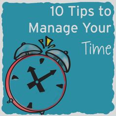 10 Time management tips- no comments from the audiance, rde