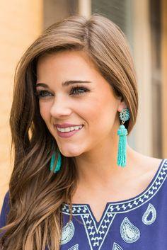 """Daring Details Earrings, Turquoise"""