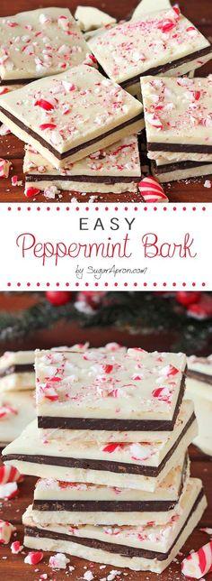light blue winter dessert an unbelievably easy no fuss christmas peppermint bark recipe - Easy Christmas Desserts Pinterest