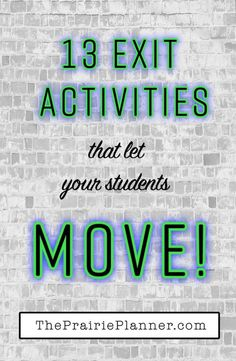 Are your students antsy by the end of class? These 13 Movement-Based Exit Activities can help. // Article by The Prairie Planner Instructional Coaching, Instructional Strategies, Teaching Strategies, Teaching Tips, Teaching Science, College Teaching, Teaching Outfits, Education College, Ms College
