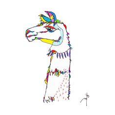 > llama Art Print