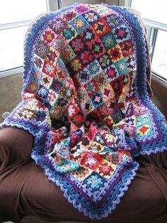 "Presenting my ""Alaska Crazy Colors"" Throw by teacuplane-sandy, via Flickr"