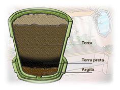 Na hora de plantar, coloque no fundo do vaso uma camada de argila expandida, para facilitar o escoamento da água. Em seguida, uma camada de terra preta. Depois, insira a planta com cuidado, para não danificar as raízes. Complete o conjunto com uma nova camada de terra e vá assentando-a suavemente com a palma da mão.