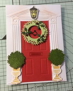 Christmas door card with magazine freebies.