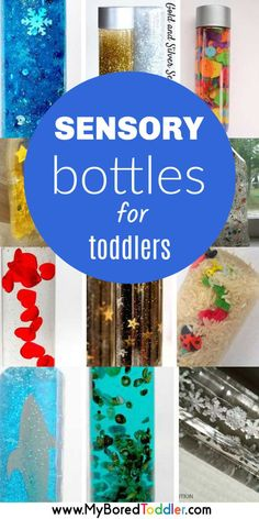 Sensory Bottles for Babies and Toddlers sensory bottles for babies and toddlers - easy wayt so make a sensory bottle for a one year old, two year old or three year old - great as calm down bottles or quiet time toddler activities Sensory Bottles For Toddlers, Sensory Activities Toddlers, Quiet Time Activities, Infant Activities, Baby Sensory Bottles, Sensory Bottles Preschool, Activities For One Year Olds, Craft Activities, Toddler Fun