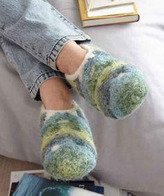 Gefilzte Hausschuhe Slippers Knitting Knitting Patterns Und