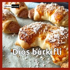 Ez a diós búrkifli leveles tésztából készül, így nagyon gyorsan és egyszerűen elkészíthető.  Próbáld ki ezt a finom diós édes süteményt! Hot Dog Buns, Hot Dogs, Bread, Dios, Brot, Baking, Breads, Buns