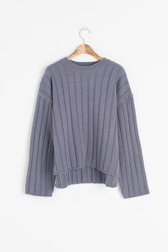 Pin Stripe Knitted Jumper, Blue