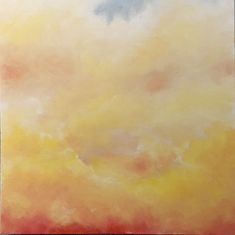 • Early Bright • 77 x 51 cm • Acrylic on stretched deep edge canvas • A colourful depiction of clouds at sunrise • Ready to Hang • Click for more details • Cityscape, Expressionist Landscape, Painting, Clouds, Expressionist, Abstract, Color, Abstract Expressionist, Sunrise
