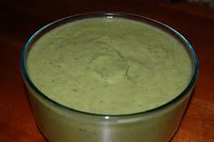 Los Cucos Green Salsa - time to reach beyond the red tomato. Had w/o the sour cream after the beach with corn chips and a cold beer. Heaven and rather diet for a snack. Will be put into the summer mix. Salsa Verde, Mexican Dishes, Mexican Food Recipes, Green Salsa Recipes, Creamy Green Salsa Recipe, Avocado Recipes, Guacamole Salsa, Holy Guacamole, Dressings